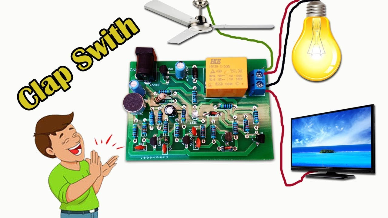 How To Make Voice Control Clap Switch Circuit At Home - Jlcpcb