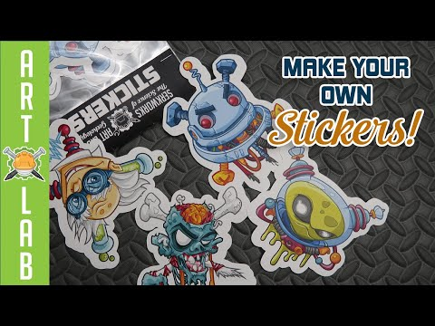 How To Design, Print, Cut & Package Your Own Stickers!