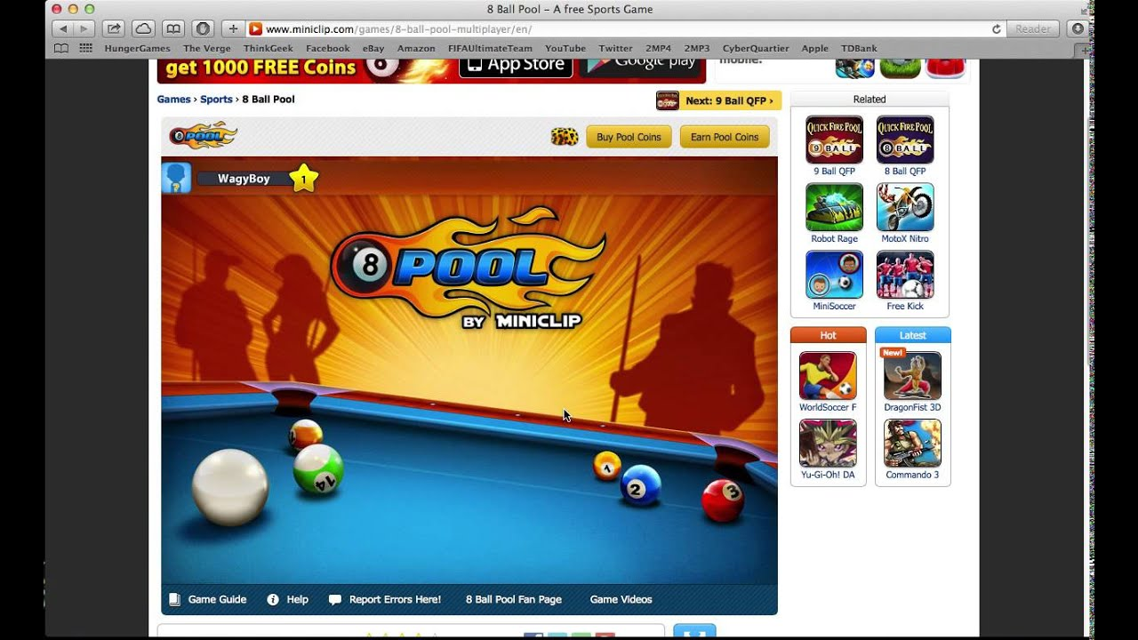 How To Get Free Coins In 8 Ball Pool By Miniclip No Surveys Youtube