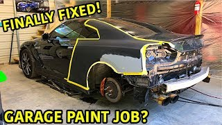 Rebuilding Our Wrecked Nissan GTR Again!!!
