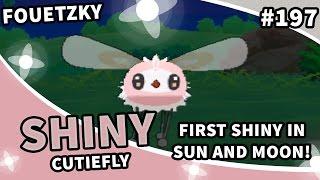 shiny 197 shiny cutiefly pokemon sun and moon sos ally chaining 627 encounters