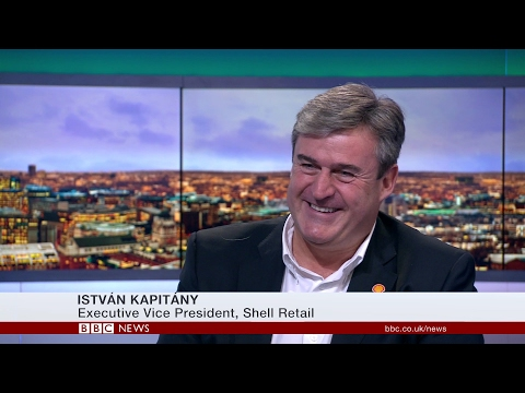 Shell Executive Vice President of Global Retail, István Kapitány's, interview with BBC Business Live