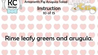 Amaranth Fig Arugula Salad - Kitchen Cat