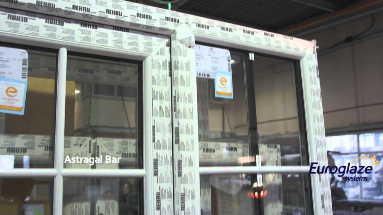 Rehau Windows And Doors Astragal Bar Fitting Youtube