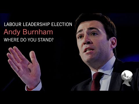 Who is Andy Burnham? Labour Leadership Election.