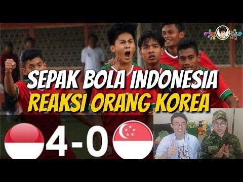 Reaksi Tentara Korea Menonton Pertandingan Sepak Bola Indonesia