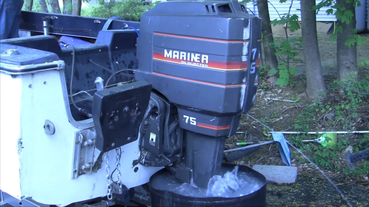 75 hp oil injected mariner motor revving idling and gear youtube rh youtube com mariner 75 hp outboard service manual free download 1989 mariner 75 hp outboard manual