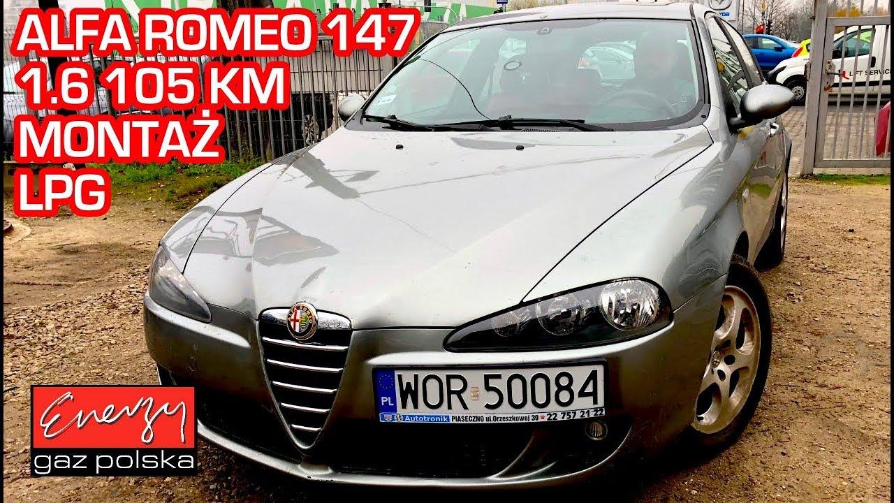 Montaż LPG Alfa Romeo 147 z 1.6 115KM 2005r w Energy Gaz Polska na gaz BRC SQ 32 OBD