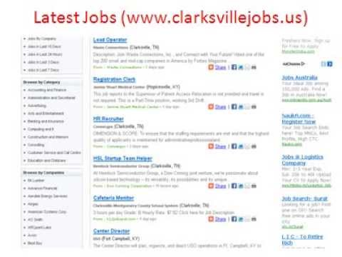 ClarksvilleJobs | Jobs in Clarksville Jobs | City of Clarksville Jobs