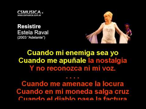 Estela Raval - Resistire - Karaoke