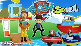 Paw Patrol Nickelodeon Mission Paw Rescued Cap Turbot Paw Patrol Sea Patrol Adventure Beach Look Out