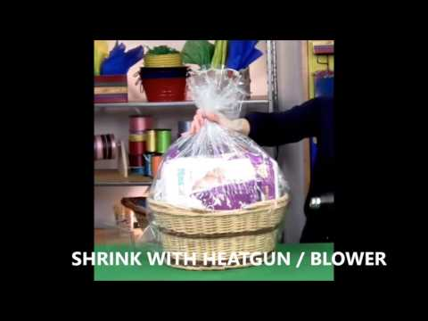 USING SHRINK WRAP BAGS FOR HAMPERS