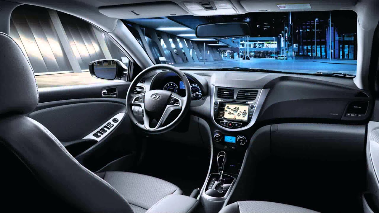 new Hyundai Accent Blue 2015 1080p  YouTube