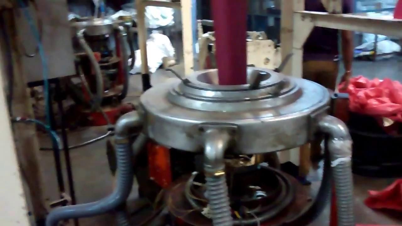 Used Plastic Film Machine Rajoo HM Film Extruder Sale India machinesale in