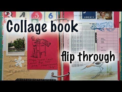 Reader's Digest collage glue book of art scraps