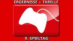 ERGEBNISSE + TABELLE I 9. SPIELTAG