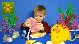 Морские Животные для Детей с Фиксиками Нолик и Скат Хвостокол  Детям про животных Видео для детей