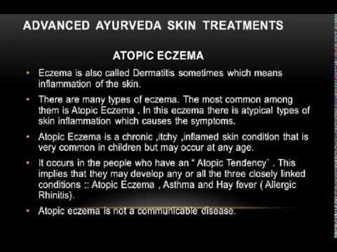 Ayurvedic Treatment For Atopic Eczema Dermatitis In Children In