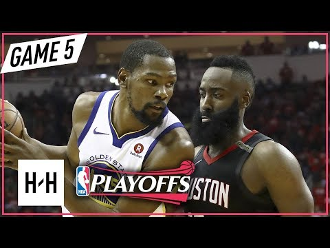 Kevin Durant vs James Harden Full Game 5 Highlights Warriors vs Rockets 2018 NBA Playoffs WCF