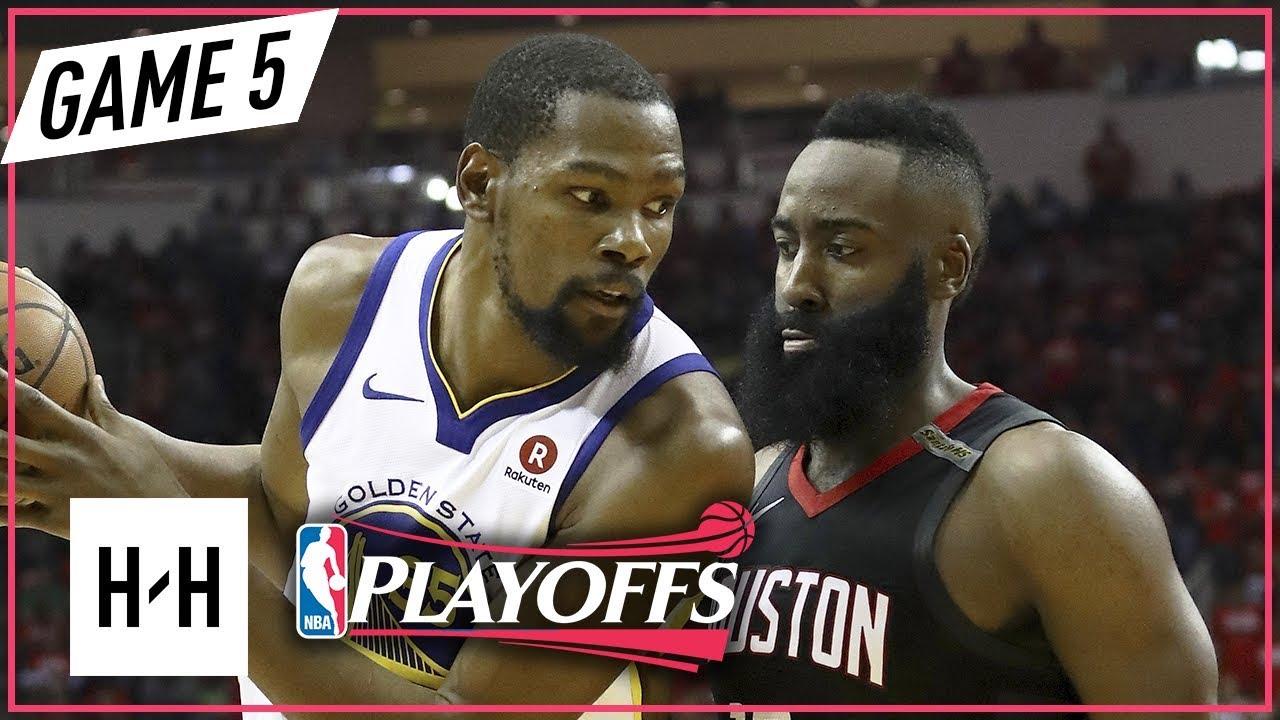 f3dbb457bab Kevin Durant vs James Harden Full Game 5 Highlights Warriors vs Rockets  2018 NBA Playoffs WCF