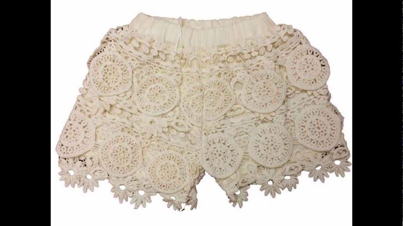 Pantalon Corto Mini Short de Crochet - YouTube