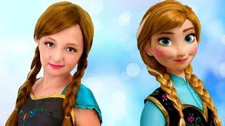 Princess Anna and Her Sister   Princesses Home Work Story   Super Elsa