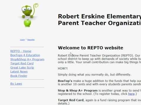 Robert Erskine School PTO site
