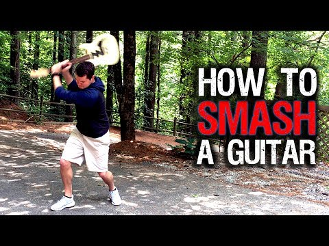 Download Youtube: How to Smash a Guitar (Warning: Brutal)