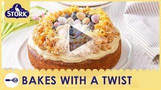 Stork Lemon &amp Blueberry Easter Cake Recipe Demonstration