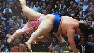 大相撲春場所千秋楽.