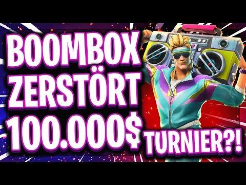🏆📻😱ERSTES 100.000$ TURNIER MIT BOOMBOX! | Neues Item zestört Fortnite eSports?! thumbnail