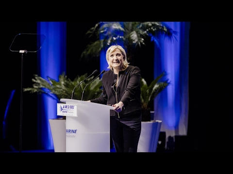 French far-right leader Le Pen vows 'France first' at presidential campaign launch