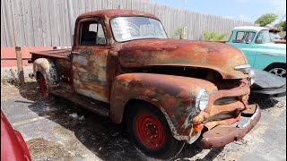 JUNKYARD RESCUE PATINA 1954 CHEVY TRUCK 3100 - South Beach Classics & Generation Oldschool