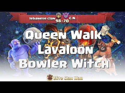 lebanese clan vs C.N. | Queen Walk + BoWitch, Miners, lavaloon | 3 Stars War TH11 | ClanVNN #346