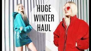 HUGE WINTER TRY ON CLOTHING HAUL / UO, Dolls Kill, Princess Polly