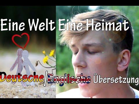COVER - Eine Welt eine Heimat (Adel Tawil) Deutsch/Englisch   Unpublished