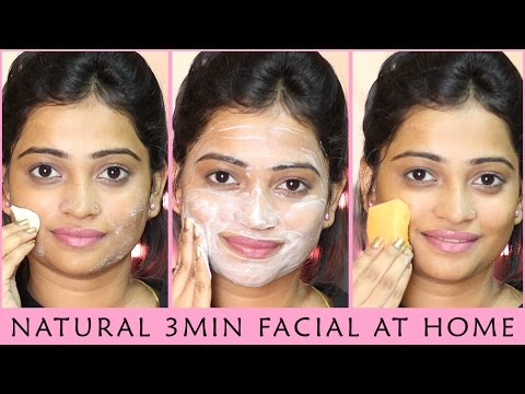 Quick FACIAL for Instant GLOWING SKIN - Only 3 MIN | Natural, Homemade, Easy and 100% Effective