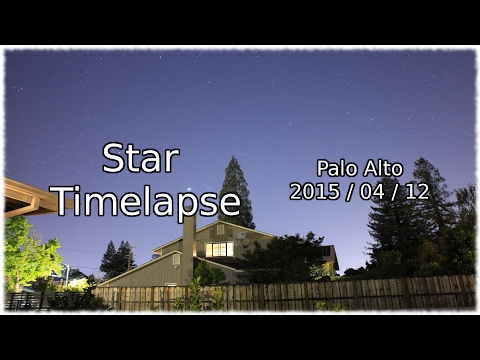 Star Timelapse (Palo Alto)