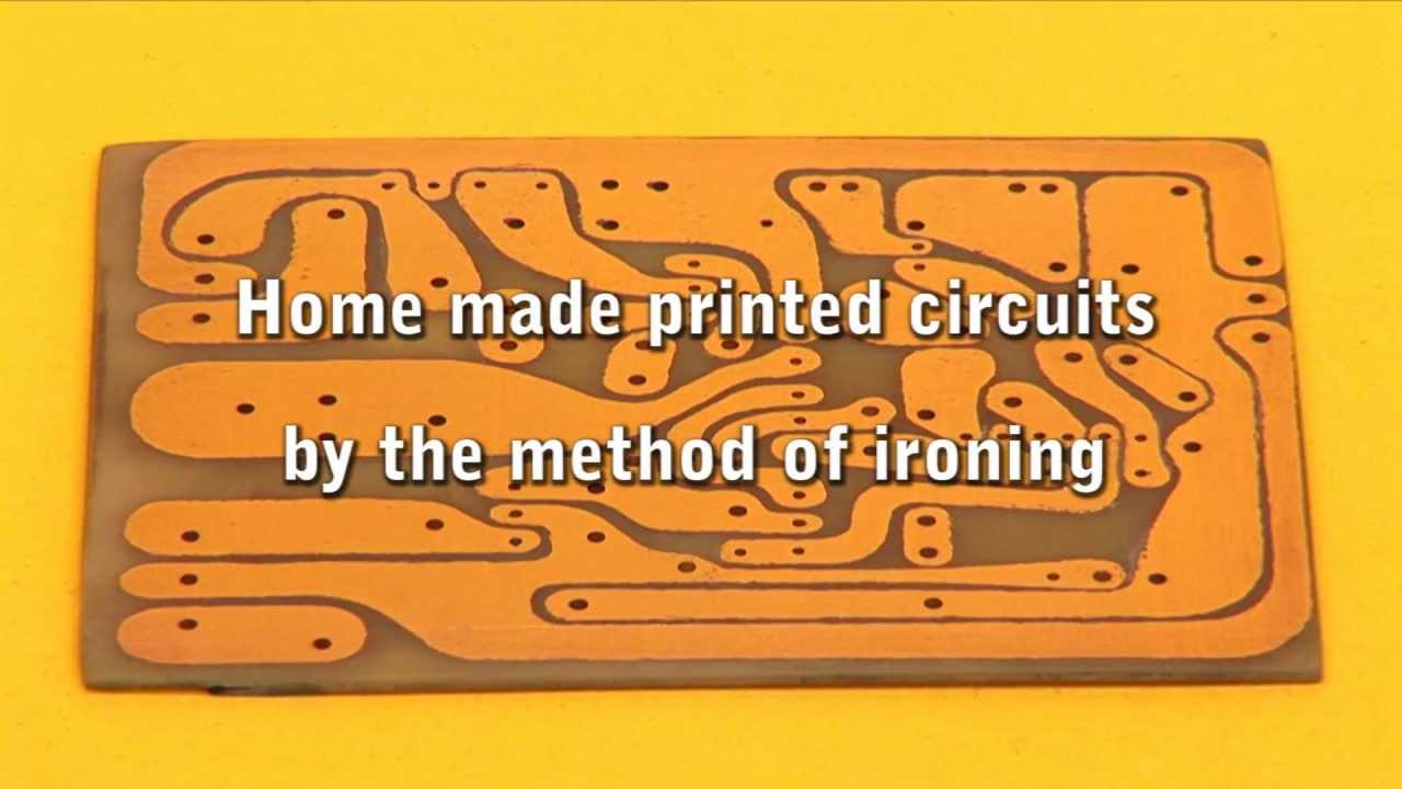 home made printed circuits by the method of ironing youtubeHow To Make A Pcb At Home Printed Circuit Board Youtube #10