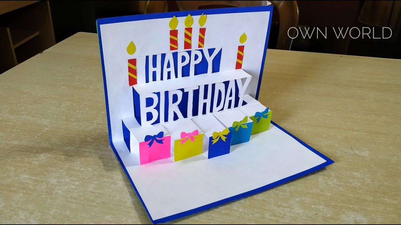 Beautiful Birthday Greeting Card Idea  DIY Birthday pop-up card DIY  GREETING cards for birthday