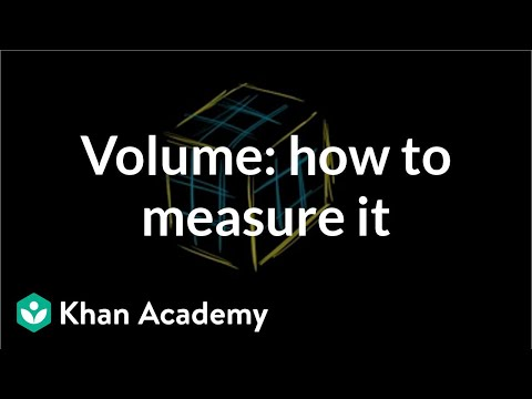 Volume: How To Measure It | Measurement | Pre-Algebra | Khan Academy