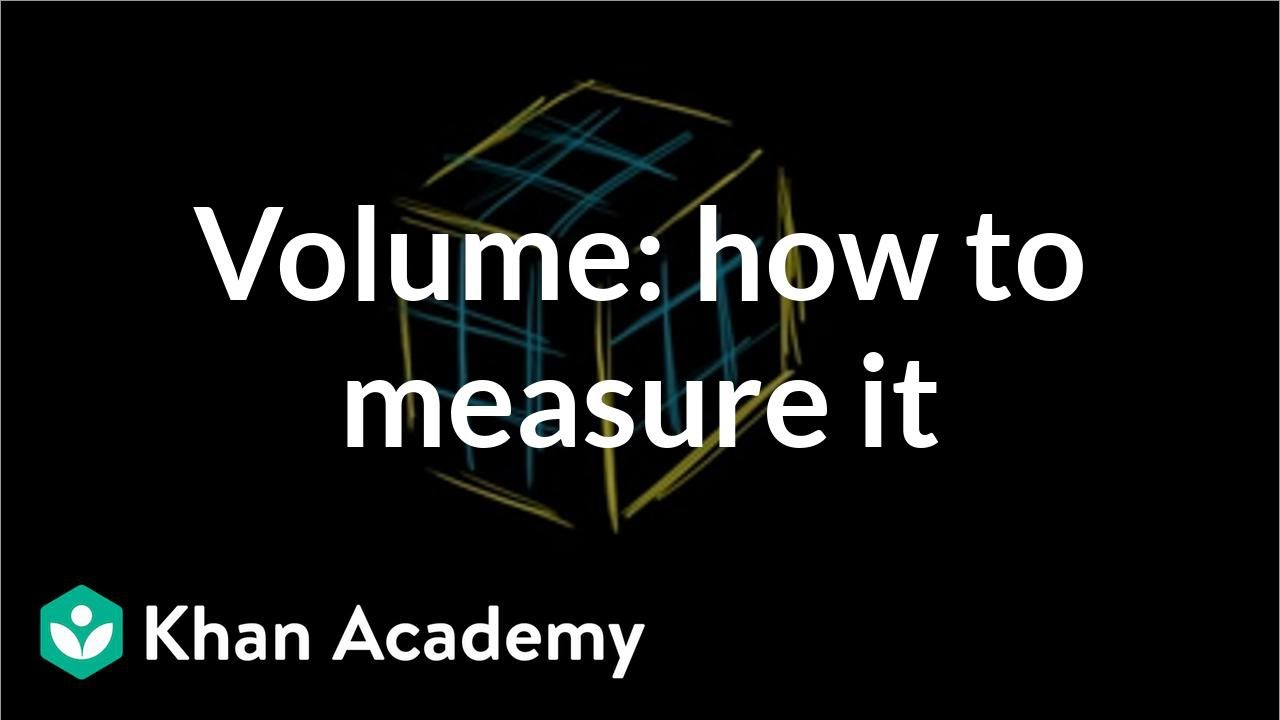 medium resolution of Volume intro: how we measure volume   Math (video)   Khan Academy