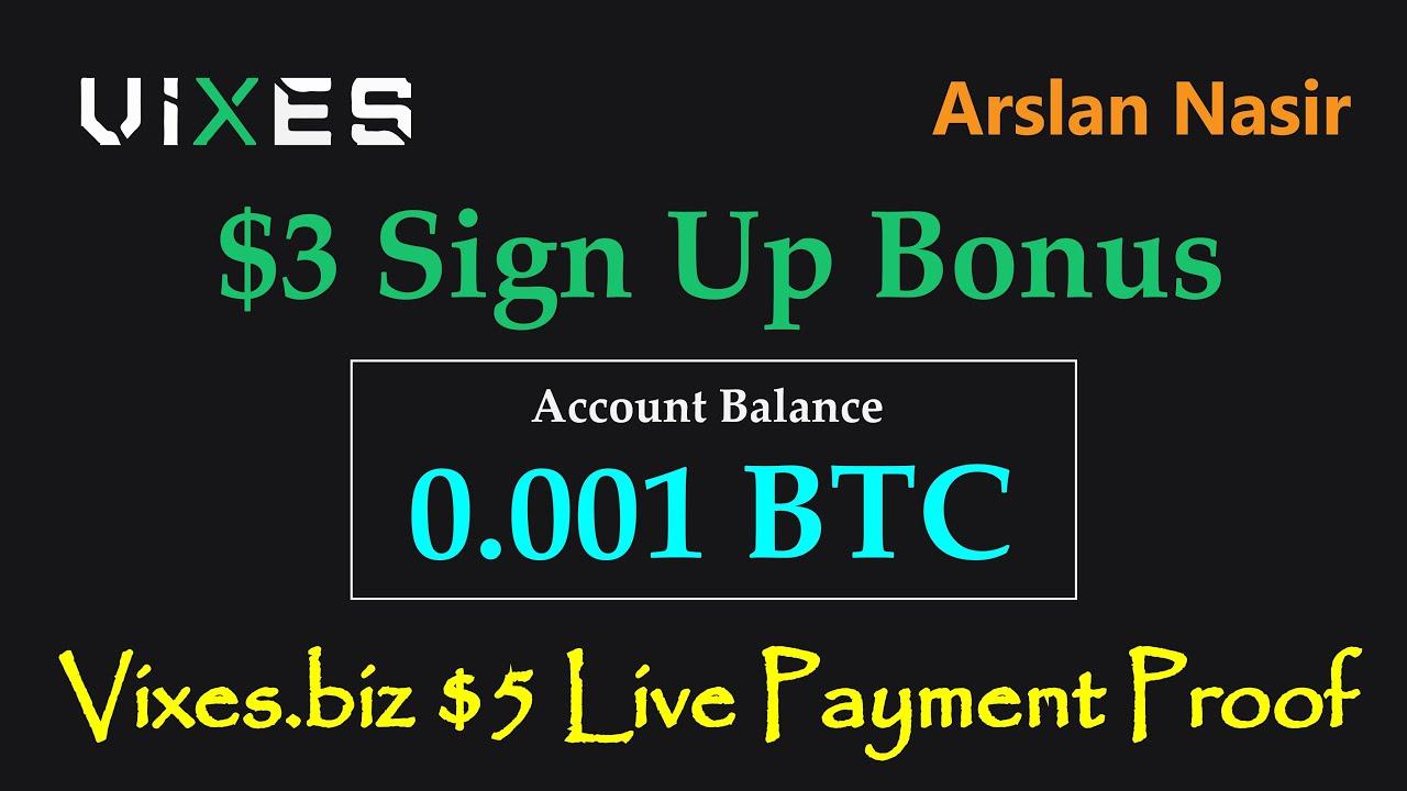 Vixes.biz New Free Bitcoin Usd Earning Site 2020 Live $5 USD ...