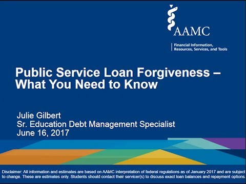 Public Service Loan Forgiveness -- What You Need To Know