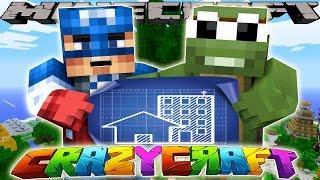 Minecraft CrazyCraft - BUILDING IRONMAN'S TREE-HOUSE!! w Tiny Turtl...