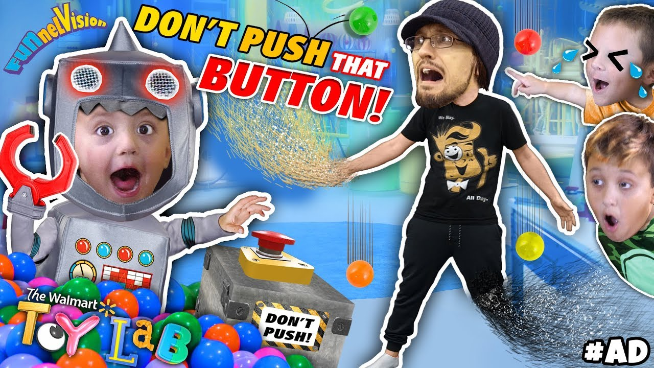 Christmas Toy Lab Don T Push That Button Funnel Fam