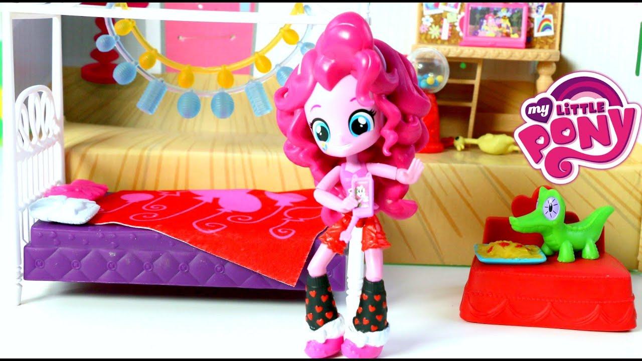 My Little Pony Pinkie Pie Dormitorio Para Pijamada Pony|MLP Slumber Party Bedroom  Set Mundo De Jugue   YouTube