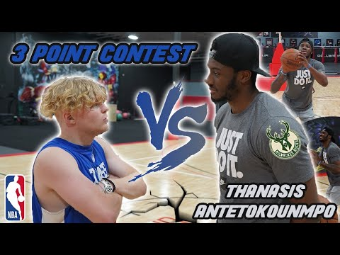 Can This Antetokounmpo Brother Beat Me? NBA 3 Point Contest!