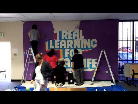 SIATech South Bay High School Mural Time Lapse Project
