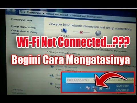 Cara Atasi Wifi Mati, Wifi Tidak Mau Konek (  Not Connected Wifi ) Pada Windows 7.